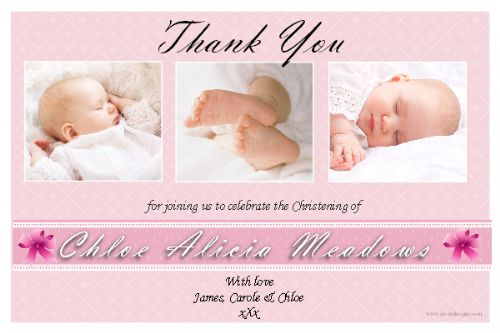 10 Personalised Thankyou PHOTO Cards N165